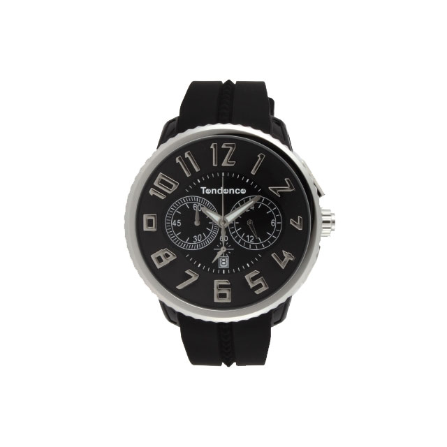 テンデンス TENDENCE 腕時計 メンズ ガリバーラウンド ブラック TG046013
