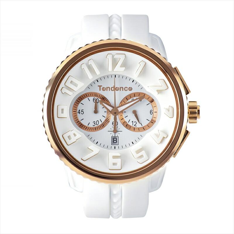 テンデンス TENDENCE ユニセックス腕時計 ガリバーラウンドクロノ TG046014 ホワイト