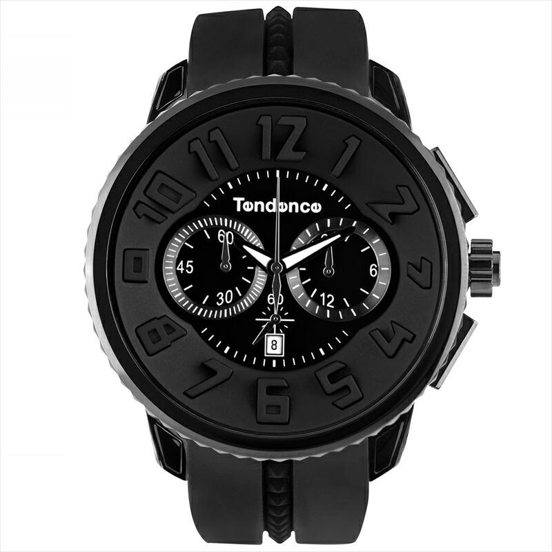 テンデンス TENDENCE ユニセックス腕時計 ガリバーラウンドクロノ TG460010 ブラック