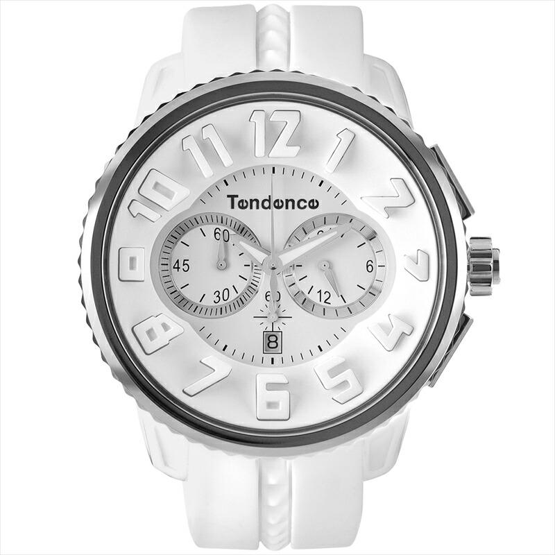 テンデンス TENDENCE ユニセックス腕時計 ガリバーラウンドクロノ TG036013 ホワイト