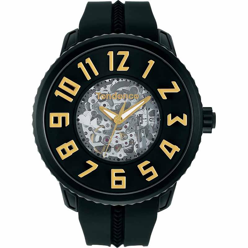 テンデンス TENDENCE腕時計 スポーツスケルトン TG491005 ブラック