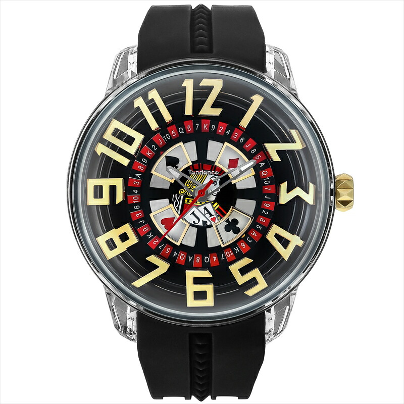 テンデンス TENDENCE メンズ腕時計 キングドーム TY023005 ブラック