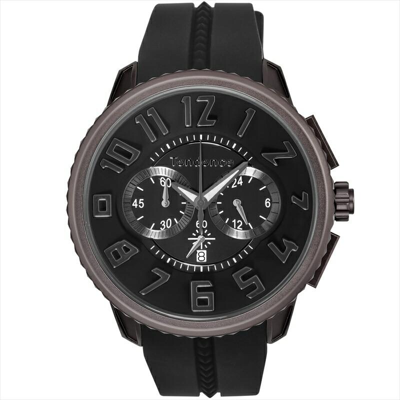 テンデンス TENDENCE ユニセックス腕時計 アルテックガリバー TY146004 ブラック