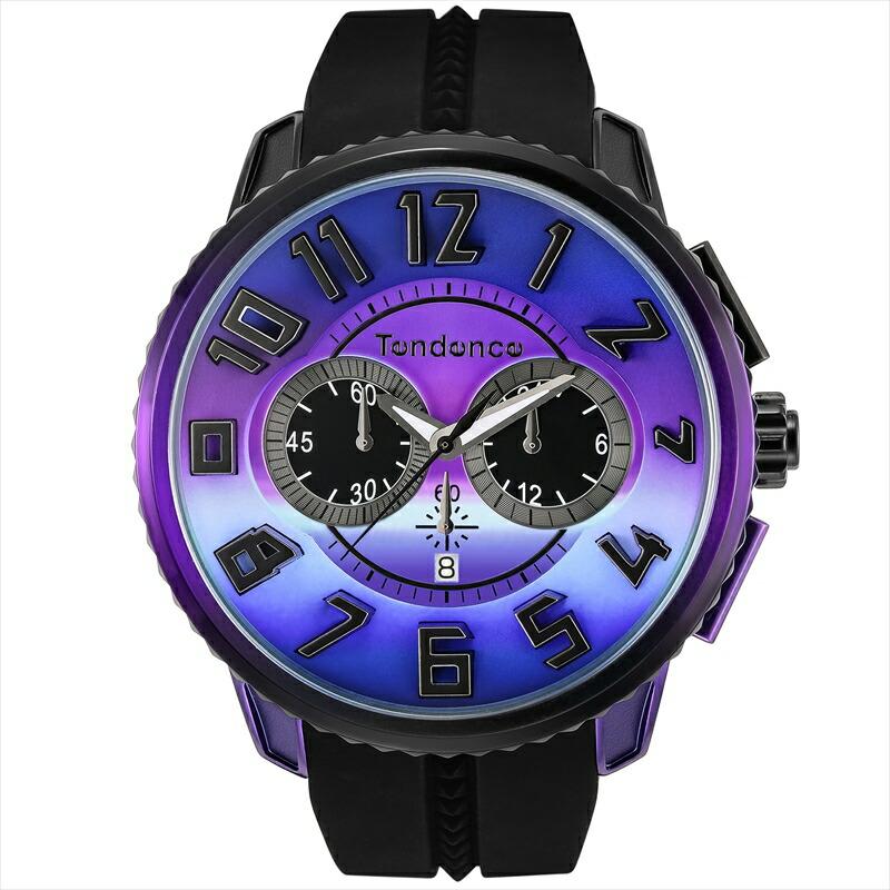 テンデンス TENDENCE ユニセックス腕時計 GulliverDeColor TY146103 ブラック/パープル