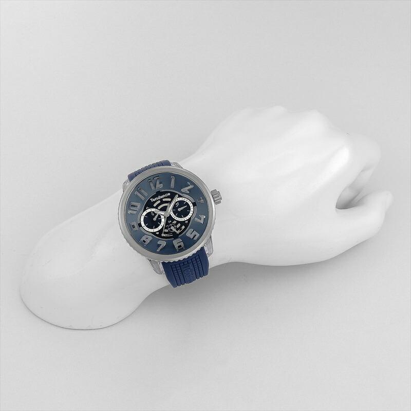 テンデンス TENDENCE ユニセックス腕時計 フラッシュマルチ TY561006 ネイビー