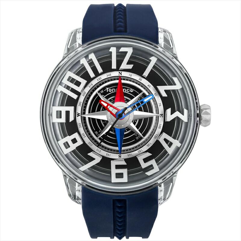 テンデンス TENDENCE メンズ腕時計 キングドーム TY023006-NV ブラック
