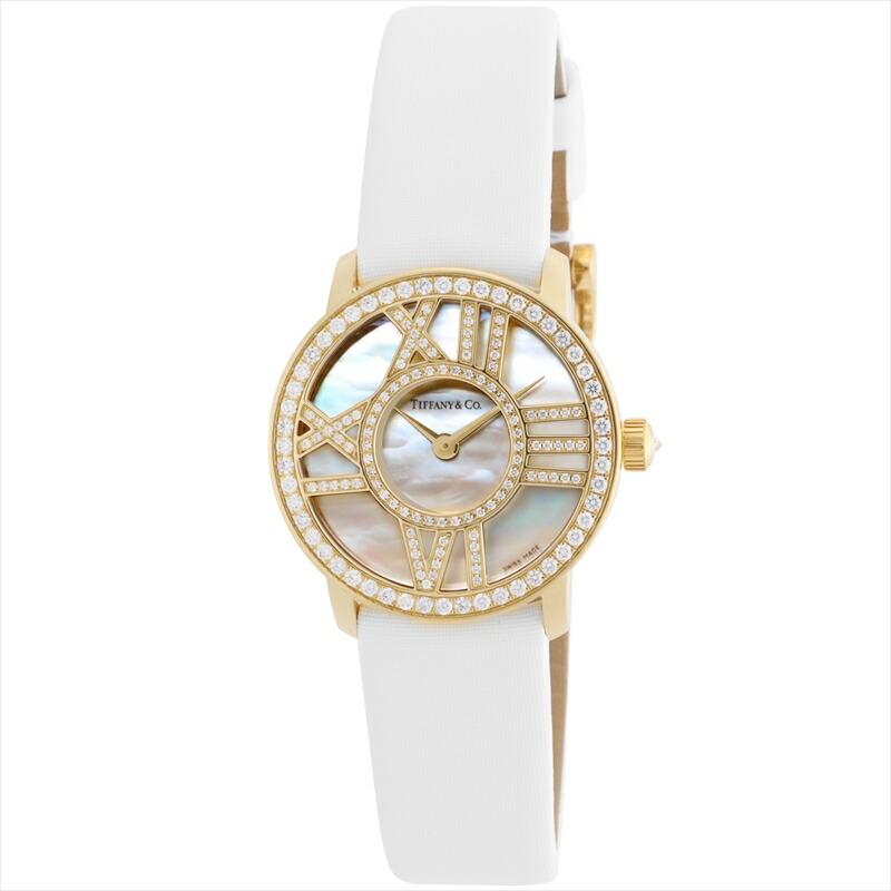 ティファニー Tiffany & Co. 腕時計 レディース Atlas Cocktail Round ホワイトパール Z1900.10.50E91A40B