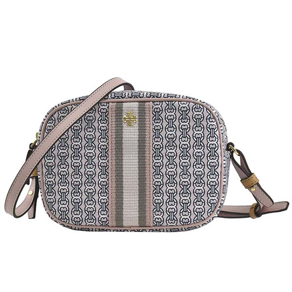 トリーバーチ TORY BURCH ショルダーバッグ GEMINI LINK CANVAS MINI BAG GEMINI LINK CANVAS 57743 COASTAL PINK GEMINI LINK