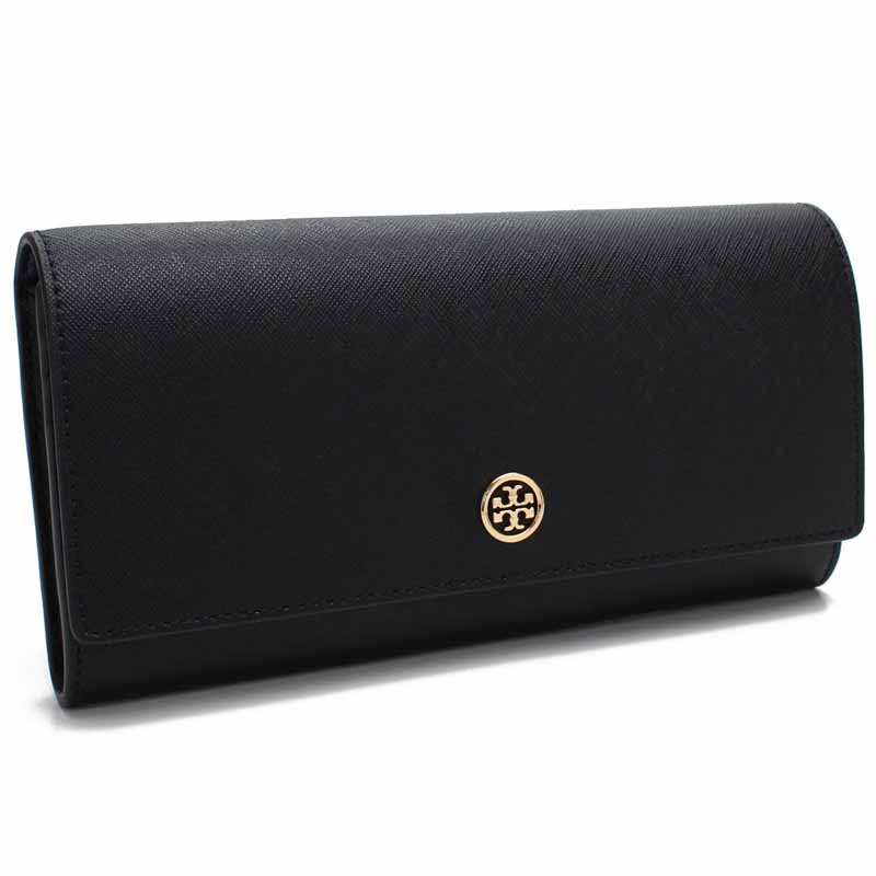 トリーバーチ TORY BURCH 長財布 46630 BLACK / ROYAL NAVY