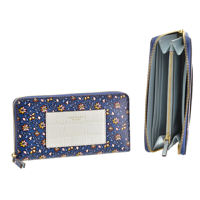 トリーバーチ Tory Burch 長財布 COLOR-BLOCK ZIP CONTINENTAL WALLET 49305 491