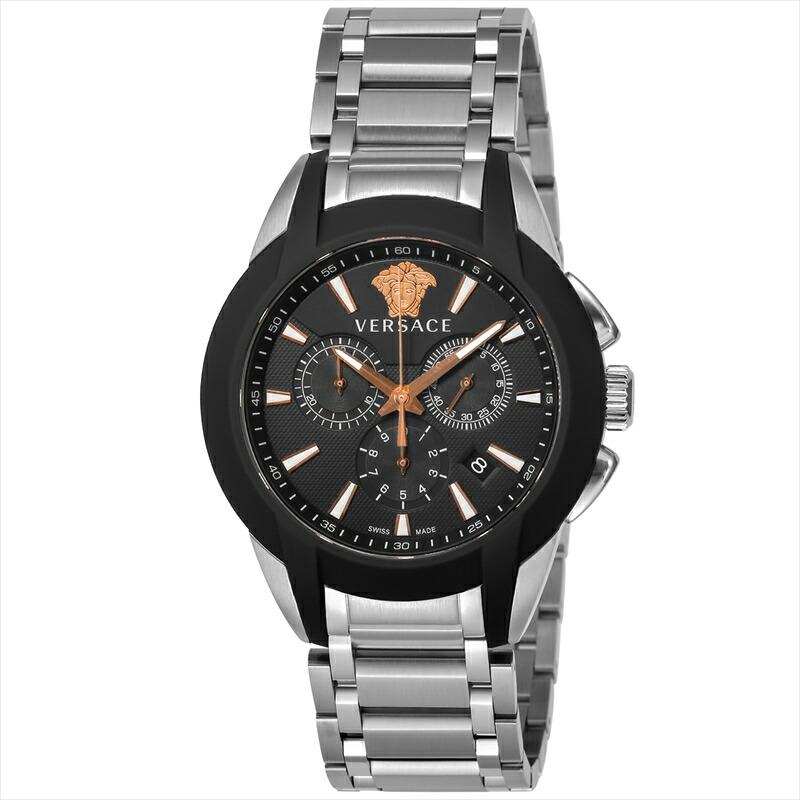 ジャンニヴェルサーチ VERSACE メンズ腕時計 キャラクタークロノ VEM800218 ブラック