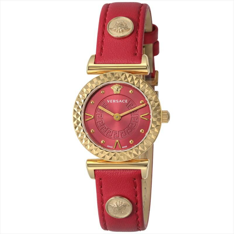 ジャンニヴェルサーチ VERSACE レディース腕時計 MINIVANITY VEAA00318 レッド