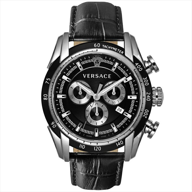 ジャンニヴェルサーチ VERSACE メンズ腕時計 V-RAY VEDB00118 ブラック