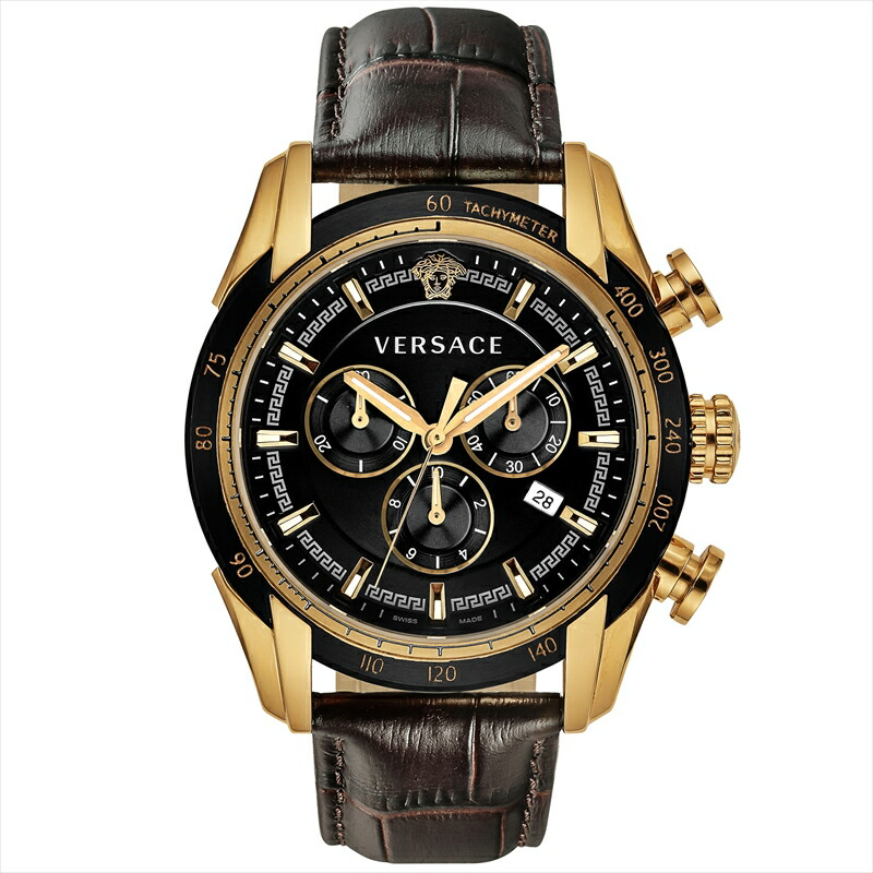 ジャンニヴェルサーチ VERSACE メンズ腕時計 V-RAY VEDB00318 ブラック