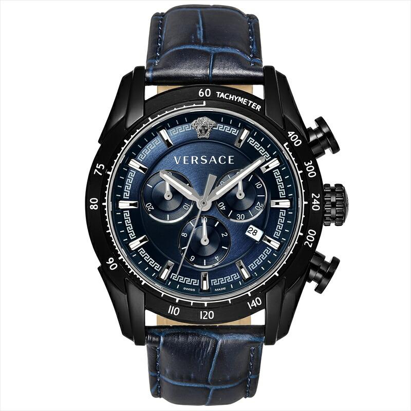 ジャンニヴェルサーチ VERSACE メンズ腕時計 VEDB00418 ネイビー
