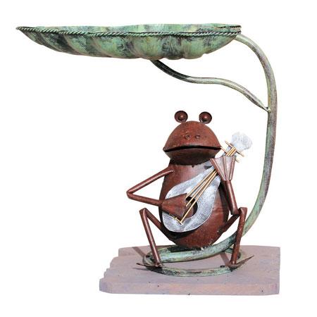 【東洋石創】ガーデニングオーナメント アニマルオーナメント カエル(蛙)の演奏園芸 雑貨