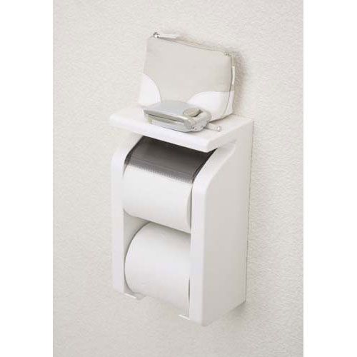 シンプルでおしゃれな トイレ用品の必需品です 棚付なので モノが上に置けます 東和産業 GoodRack 人気急上昇 棚付き トイレット トイレ収納 付 ペーパーホルダー ストック 日本最大級の品揃え 予備