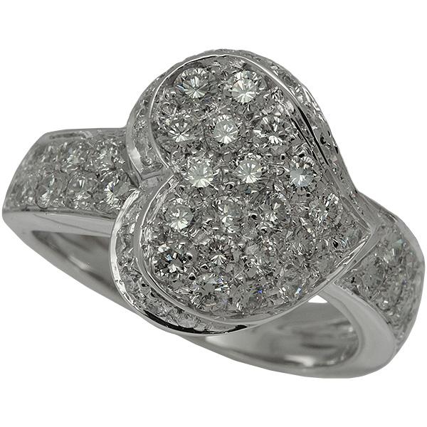 送料無料・返品可♪スタージュエリー ハートモチーフ ダイヤ計1.25ct リング 12号 K18WG 新品仕上げ済み♪【中古】