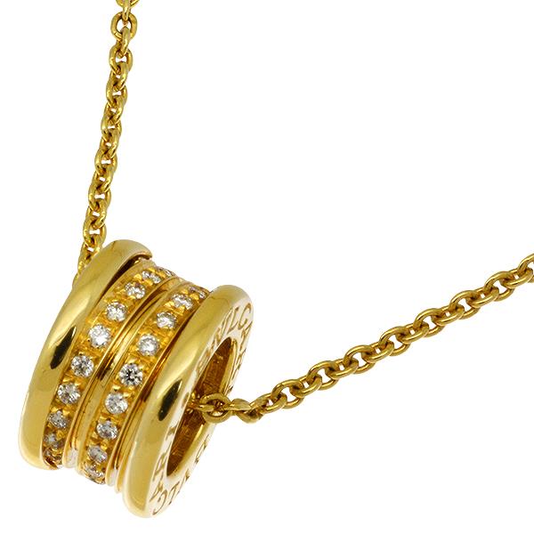 送料無料・返品可♪ブルガリ B-zero1 ビーゼロワン ダイヤ ペンダント ネックレス K18YG 40.5cm 新品仕上げ済み♪【中古】