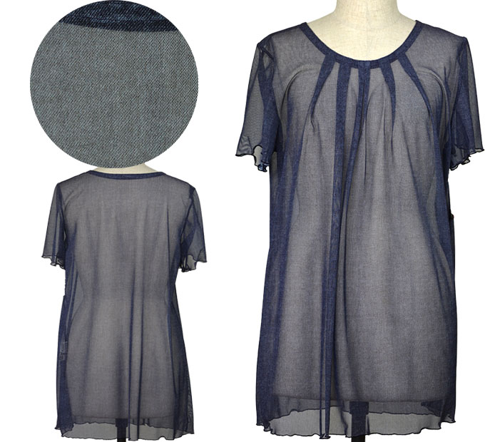 フリーサイズシンプル薄手チュニック シニアファッション 夏 シニア向け婦人服
