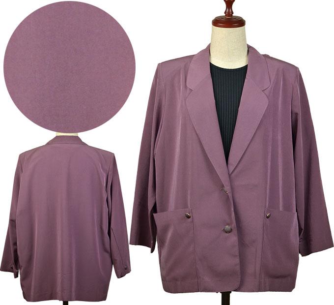 ブラウス&ジャケット2点セット13号 アンサンブル シニアファッション 秋 シニア向け婦人服