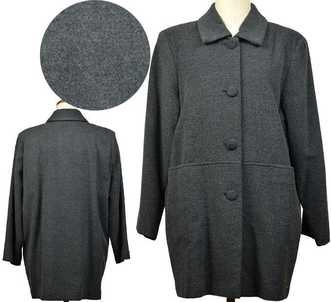 フリーサイズ起毛コート シニアファッション 冬 ミセス