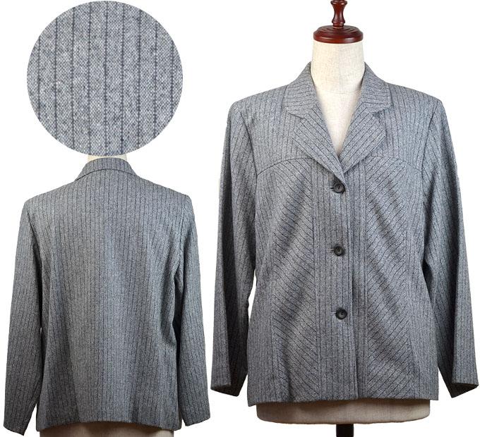 ウール混ジャケット15号 シニアファッション 冬 ミセス