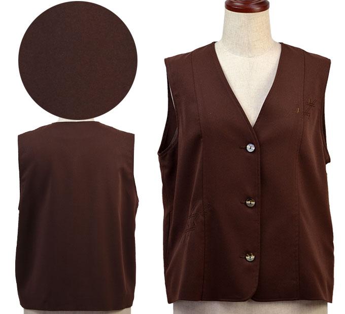 フリーサイズ刺繍入りベスト シニアファッション ミセス 間物 高齢者 シニア向け婦人服 秋