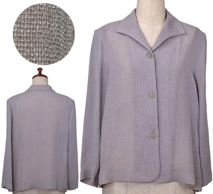 シンプル三角襟ジャケット11号 シニアファッション 春 夏 おばあちゃん 高齢者 シニア向け婦人服