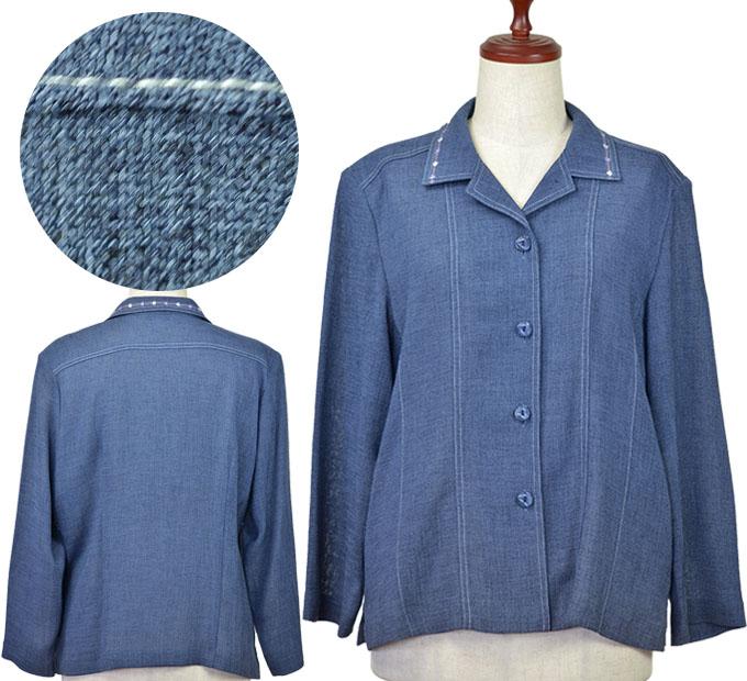 ジャケット15号 ハイミセス シニアファッション 春 初夏 高齢者 シニア向け婦人服