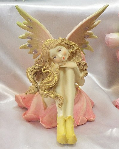 Color fairy: A fairy rose Princess Angel Angel romantic gadgets romantic gadgets Angel figurine fairy sculpture figurine gardening gifts giveaway