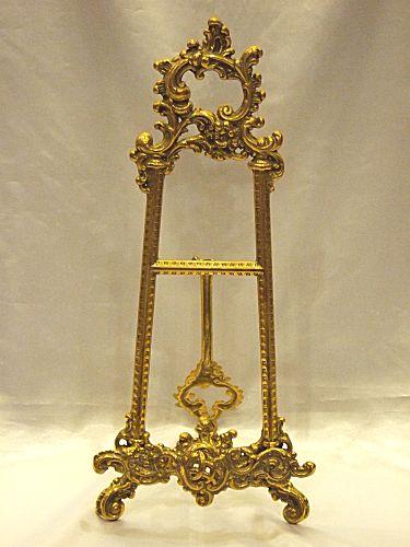 真鍮製 イーゼル:LサイズBRASS 真鍮製 ブラス アンティーク調 ゴールド 室内装飾 通販 おしゃれ 【HLS_DU】