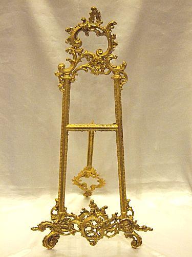 【送料無料】真鍮製 イーゼル:LLサイズBRASS 真鍮製 ブラス アンティーク調 ゴールド 室内装飾 通販 おしゃれ 【HLS_DU】