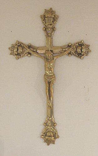 真鍮製 キリストの壁飾りBRASS 真鍮製 ブラス アンティーク調 ゴールド 室内装飾 通販 おしゃれ 【HLS_DU】
