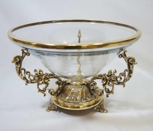 【送料無料】クラシックコンポート(真鍮×ガラス) アンティーク おしゃれ プレゼント ギフト 置物 ガラス 小物入れ 花瓶