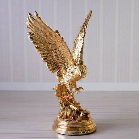 【送料無料】イーグル(鷲) オブジェ:ゴールドワシ 置物 風水 御祝 記念品 おすすめ