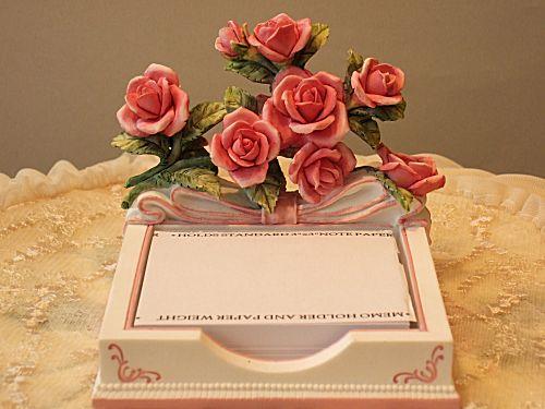 Wonderful motif! note & pen holder