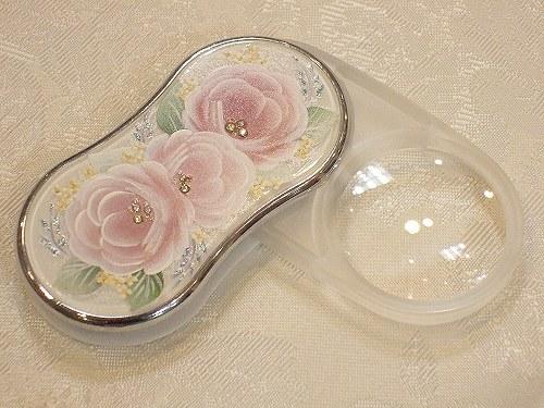 高い素材 薔薇雑貨 バラ雑貨 姫系雑貨 LEDライト ルーペ 低価格化 おすすめ プレゼント 人気 HLS_DU ギフト LEDライト付きスライドルーペ:ピンクローズ