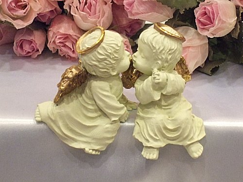 ペアエンジェル mascot Angel figurine sculpture Angel gardening rose gift presents popular picks