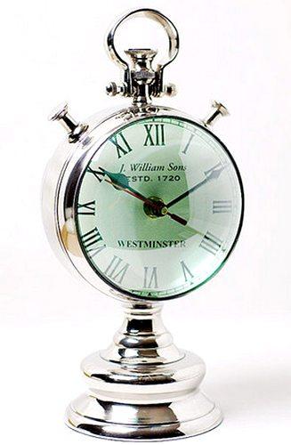 【送料無料】シルバークロック:魚眼レンズ風置時計時計 壁掛け シルバー 新築祝い 引越祝い 記念品 通販 おしゃれ シンプル 【HLS_DU】