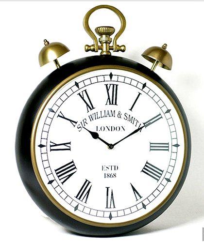 【送料無料】シルバークロック:ベル付き壁掛け時計時計 壁掛け シルバー 新築祝い 引越祝い 記念品 通販 おしゃれ シンプル 【HLS_DU】