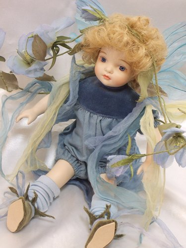 【送料無料】若月まり子 ビスクドール「ベビーフェアリー:B」【楽ギフ_のし】ビスクドール 御祝 贈答 創作人形 ギフト 結婚祝 出産祝 記念品