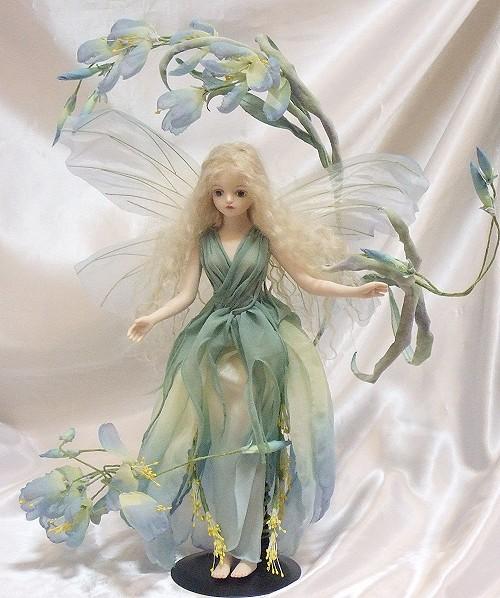 【送料無料】若月まり子 お花の妖精人形♪ロマネスク:シンシアノーバ【楽ギフ_のし】ビスクドール 御祝 贈答 創作人形 ギフト 結婚祝 出産祝 記念品