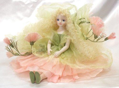【送料無料】若月まり子 お花の妖精人形♪エルフィンフローリー:ねむ【楽ギフ_のし】ビスクドール 御祝 贈答 創作人形 ギフト 結婚祝 出産祝 記念品