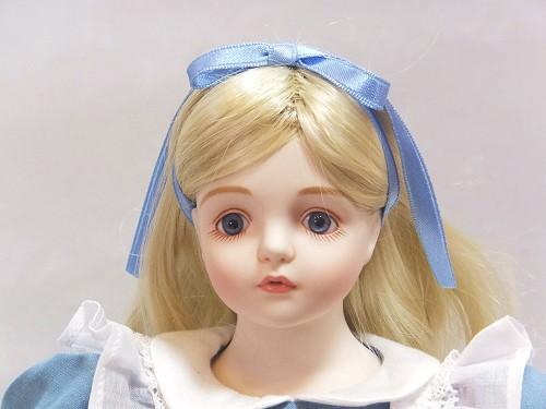 """Wakatsuki 圓子濃湯娃娃""""夢游仙境""""愛麗絲 (直發) 娃娃站濃湯愛麗絲娃娃禮物慶祝紀念品陶器"""