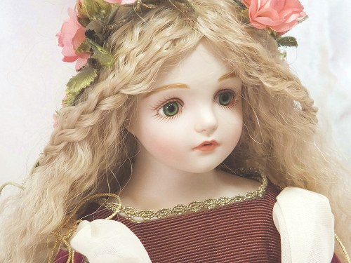 Wakatsuki 圆子浓汤睡美娃娃站在一起浓汤睡美娃娃礼物庆祝纪念品陶器