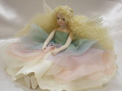 【送料無料】若月まり子 虹の妖精人形♪エルフィンフローリー:イリス【楽ギフ_のし】ビスクドール 御祝 贈答 創作人形 ギフト 結婚祝 出産祝 記念品