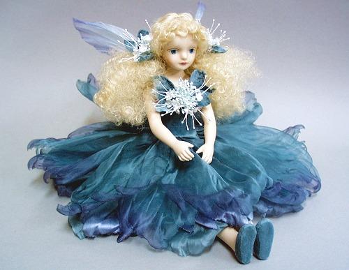 【送料無料】若月まり子 お花の妖精人形♪エルフィンフローリー:ペパーミント【楽ギフ_のし】ビスクドール 御祝 贈答 創作人形 ギフト 結婚祝 出産祝 記念品