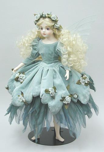 【送料無料】若月まり子 ビスクドール:ルナ(ペパーミント・グリーン)【楽ギフ_のし】ビスクドール 御祝 贈答 創作人形 ギフト 結婚祝 出産祝 記念品