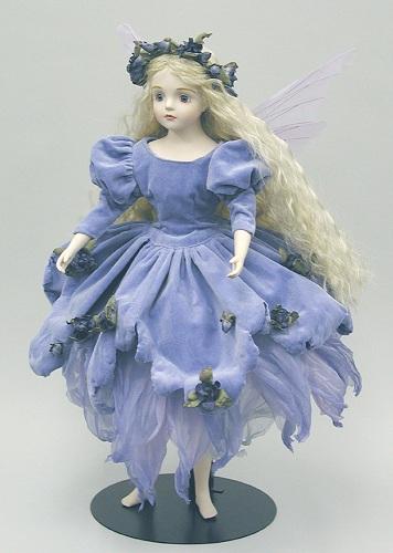 【送料無料】若月まり子 ビスクドール:ルナ(パープル)【楽ギフ_のし】ビスクドール 御祝 贈答 創作人形 ギフト 結婚祝 出産祝 記念品